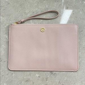 Lululemon clutch, never used, light pink